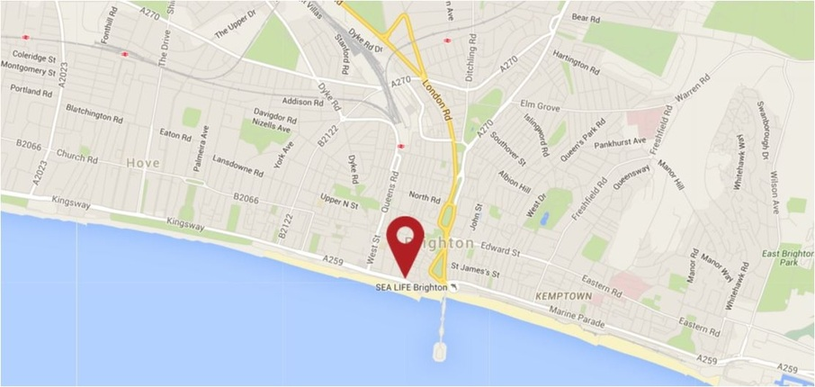 Jurys Inn Brighton Waterfront Map Picture